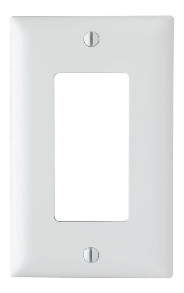 Pass & Seymour TP26-W 1-Gang 1-Decorator White Nylon Standard Unbreakable Wallplate