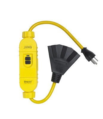 Pass & Seymour 1594-TC2M 15 Amp 125 VAC NEMA 5-15P/R Black Durable Polycarbonate Manual Reset Portable Cord