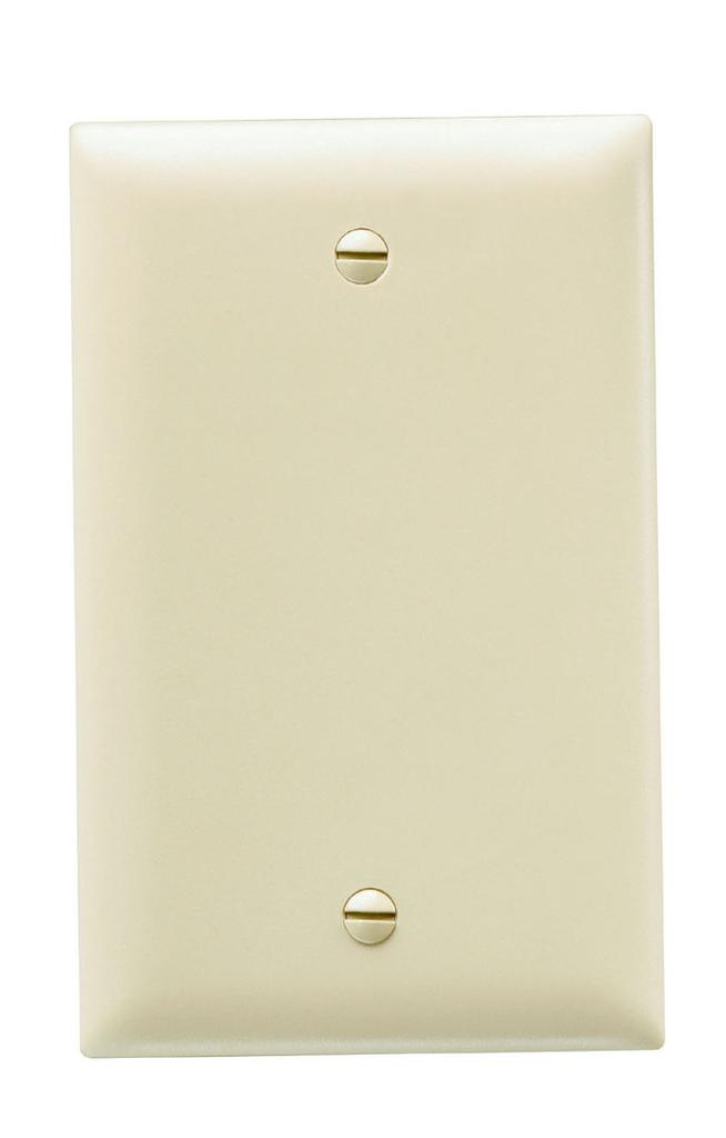 Pass & Seymour TP13-I 1-Gang Blank Ivory Nylon Standard Unbreakable Wallplate