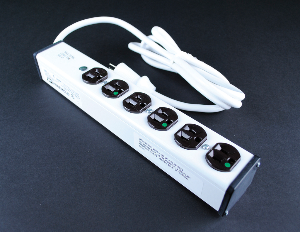 Mayer-Plug-In Outlet Center Unit / Medical/Dental Grade/APPROVED for Patient Care areas/120V/15A/6 O/L /6' cord-1
