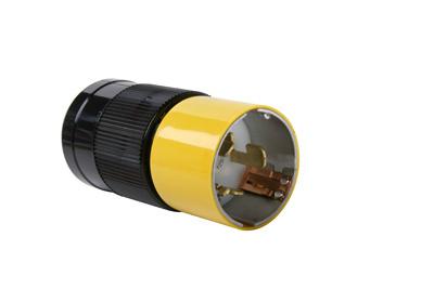 Pass & Seymour CS6365 50 Amp 125/250 VAC 3-Pole 4-Wire Nylon Straight Locking Plug