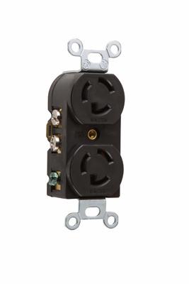 Pass & Seymour 4750 15 Amp 277 VAC 2-Pole 3-Wire NEMA L7-15R Nylon Locking Duplex Receptacle