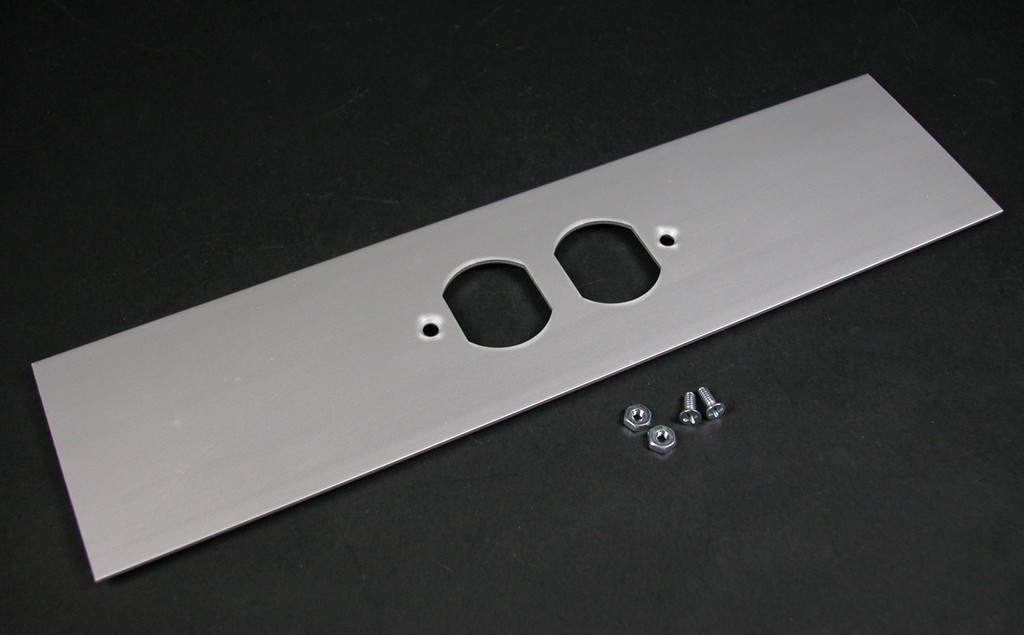 Wiremold ALA-DR 12 x 3 Inch Satin Anodized Aluminum 1-Channel Raceway Duplex Receptacle Cover Plate