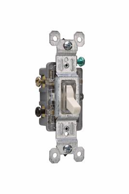 Pass & Seymour 663-LASLG 15 Amp 120 VAC 3-Way Light Almond Thermoplastic Screw Mounting Illuminated Toggle Switch
