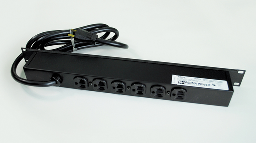 Plug-In Outlet Center Unit / Rack Mount 120V/20A/6 rear O/L /lighted switch/15' cord/Computer Grade Surge