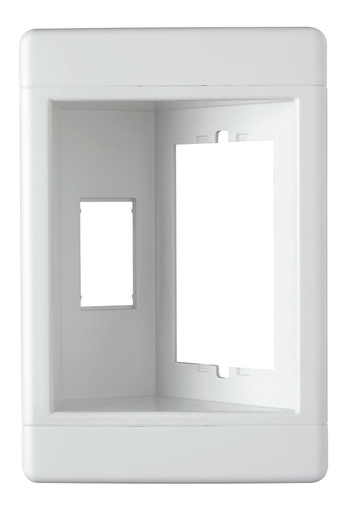 Single-Gang Recessed TV Box (Frame Only), White