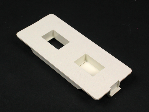 5500 Flush Dual RJ Connector Faceplate Fitting