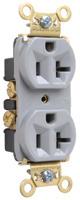 Mayer-Heavy-Duty Spec Grade Receptacles, Back & Side Wire, 20A, 125V, Gray-1