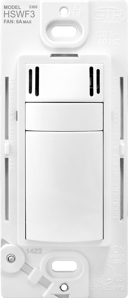 Mayer-HSWF3 Humidity Based Fan Control, White-1
