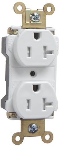 Mayer-PlugTail® Industrial Extra Heavy-Duty Spec Grade Tamper-Resistant Receptacles, 20A, 125V, White-1