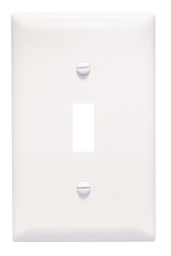 Mayer-Toggle Switch Openings, One Gang, White-1