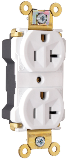 Mayer-PlugTail® Industrial Extra Heavy-Duty Spec Grade Receptacles, 20A, 125V, White-1