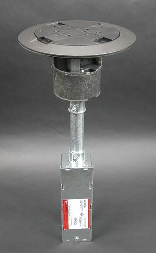 Mayer-RC7 Multi-Service Poke-Thru Assembly, Black-1