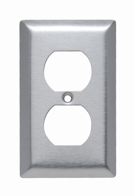 Mayer-Duplex Receptacle Openings, One Gang, 430 Stainless Steel-1