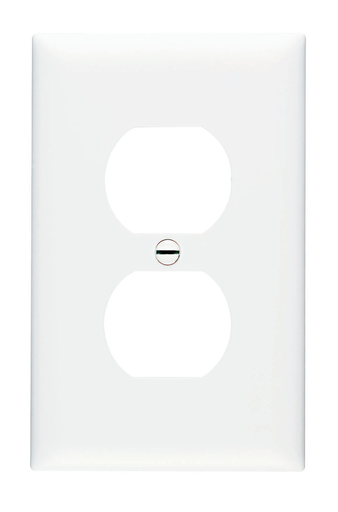 Mayer-Duplex Receptacle Openings, One Gang, White-1