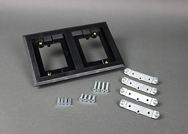 Mayer-Omnibox® Double Gang Rectangular Black Plastic Carpet Flange-1