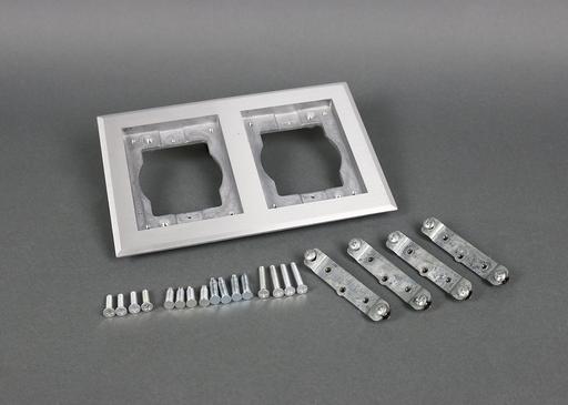 Mayer-Omnibox® Double Gang Rectangular Aluminum Carpet/Tile Flange-1