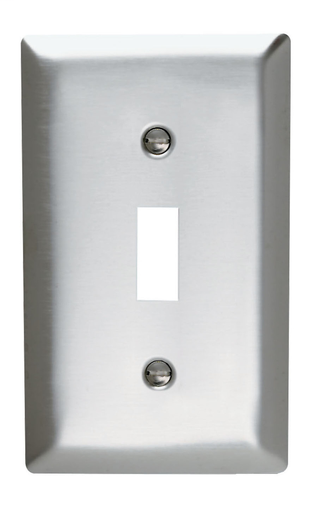 Mayer-Toggle Switch Openings, One Gang, 302/304 Stainless Steel-1