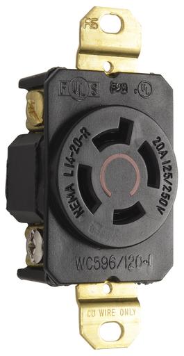 Mayer-20 Amp NEMA L1420 Single Receptacle-1