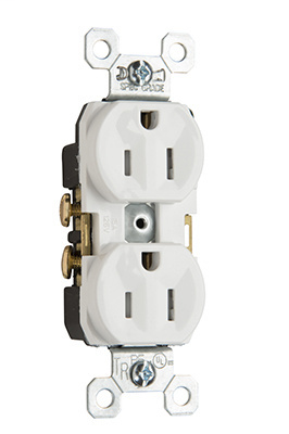 Mayer-Tamper-Resistant Commercial Grade Receptacles, White, TR15W-1