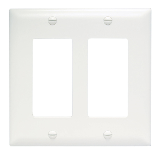 Mayer-ThermoplasticTwo Gang Decorator Wall Plate, White-1
