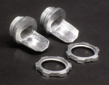 Mayer-Wiremold 500/700 Series 1/2inch Box Connector (Galvanized) Fitting-1