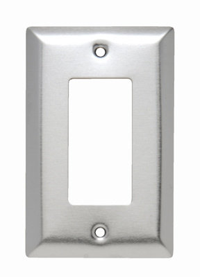 Mayer-Decorator Openings, One Gang, 302/304 Stainless Steel-1