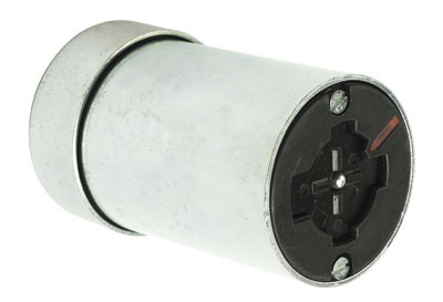 30 Amp Power Interrupting Connector, Metallic with Rubber Cord Grip