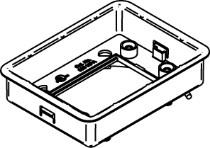 Mayer-ModulinkTM 880MP Series Rectangular Plastic Floor Box Adjusting Ring-1