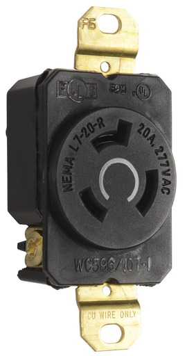 Mayer-20 Amp NEMA L720 Single Receptacle-1