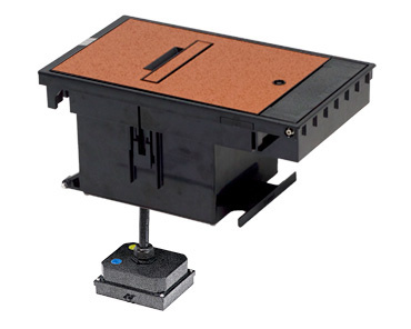 Mayer-Outdoor Ground Box 2-Gang, 20A Duplex Receptacles, Brown-1