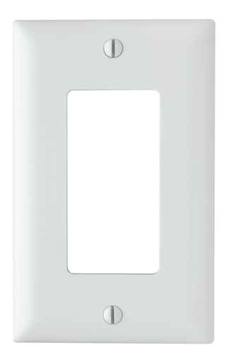 Mayer-Thermoplastic 1-Gang Decorator Wall Plate, White-1