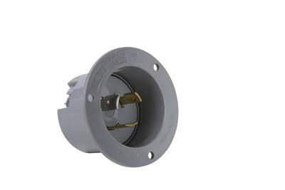 20 Amp NEMA L1020 Inlet, Gray