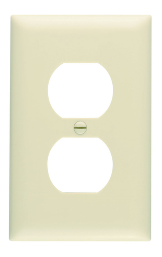 Mayer-Duplex Receptacle Openings, One Gang, Ivory-1