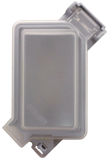 Mayer-Single-Gang Extra-Duty While-In-Use Weatherproof Cover, Frosted Plastic-1