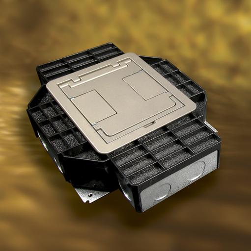 Mayer-Resource RFB® Series Four Gang Floor Box-1