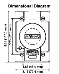leviton 69w81 30a 1220 208v locking receptacle cover yellow dimensional data · wiring diagram