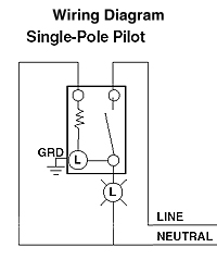 lev 5618 2w sp pilot light double pole light switch wiring pilot light switch wiring diagram #12
