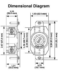 leviton 2430 lkg flush receptacle