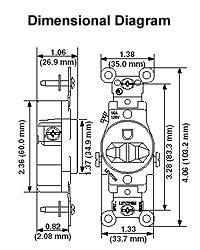 6 20r receptacle wiring diagram leviton 5821-w 250v nema 6-20r single white receptacle l6 20r receptacle wiring diagram