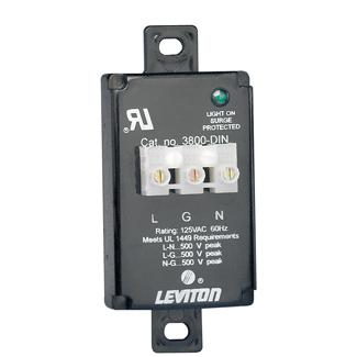 Leviton,3800-DIN,TVSS 120V AS RAIL MT