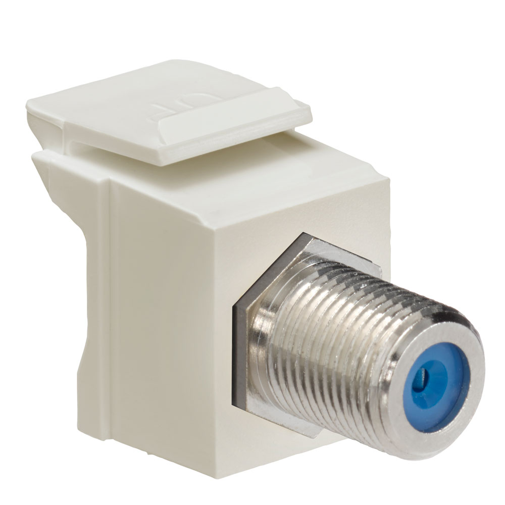 Leviton,41084-FIF,COUPLER F-CONNECTOR NICKEL PLATED IVORY