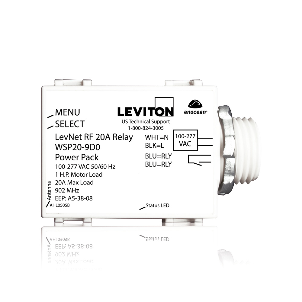 Leviton,WSP20-9D0,20A RELAY POWER PACK