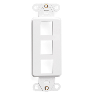Leviton,41643-W,3-PORT QUICKPORT DEC  INSRT  WHITE