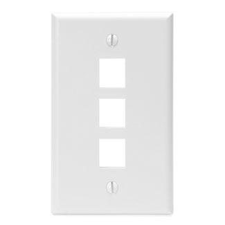LEVITON 41080-3WP WHITE 3-PORT 1-GANG WALLPLATE