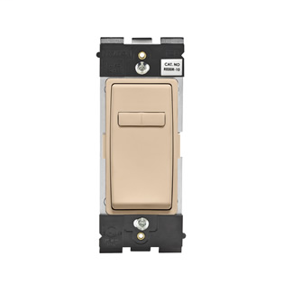 Leviton Renu® Coordinating Dimmer Remote RE00R-DT for 3-Way or More Applications, 120VAC, in Dapper Tan