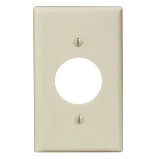 Leviton 86004 2.75 x 0.22 x 4.5 Inch 1-Gang Smooth Ivory Thermoset Device Mount Standard Receptacle Wallplate
