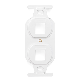 LEVITON 41087-2WP WHITE 2-PORT 106 STYLE INSERT TO FIT A DUPLEX WALLPLATE