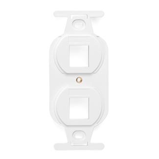 QuickPort Duplex Type 106 Insert, 2-Port, White