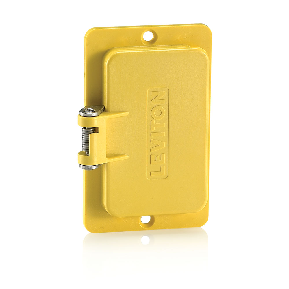 Coverplate, Standard, Single-Gang, Flip-Lid, Thermoplastic, Weather-Resistant,GFCI/decora® Receptacles - Yellow